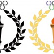 Olympic symbols — Stock Vector