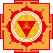 Shri Durga Yantra — Vetor de Stock