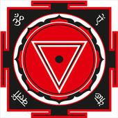 Shri yantra de kali — Vetor de Stock