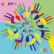 Holi greeting card — Stock Vector