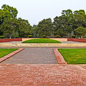 New Delhi.Shanti Van memorial — Stock Photo