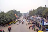Qutab road in New Delhi — Stock Photo