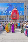 Ratha-Yatra festival in Moscow — Stockfoto