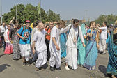 Iscon devotees on Ratha-Yatra — Stock Photo