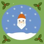 Portrait of Santa — Stock Vector