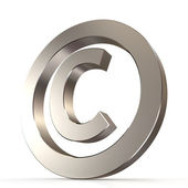 Shiny metal copyright sign — Stock Photo