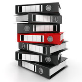 3D rendering of a pile of office ring binders — Stock Photo