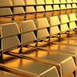 Many Gold bars — Stock Photo