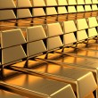 Royalty-Free Stock Photo: Many Gold bars