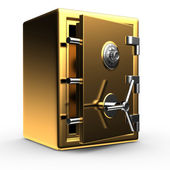 Open gold safe — Stock Photo