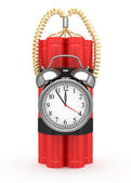 Bomb with clock timer — Stock Photo