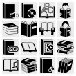 Stock Vector: Book icons set.