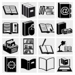 Book icons set — Stok Vektör