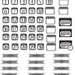 Calendar icons set — Stock Vector #18422043