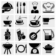 Kitchen and cooking icon set — Stock Vector