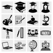Stock Vector: Higher Education icons set