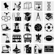 Education Icons set — Stock Vector #18422155
