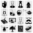 Royalty-Free Stock Vektorgrafik: Chef icons set