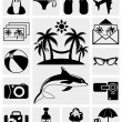 Travel and Summer icons — Stock Vector