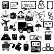 Shopping icons set — Stockvektor