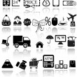 Stock vektor: Shopping icons set