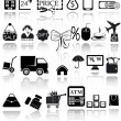 Shopping icons set — Stockvector #18422299