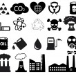 Stock Vector: Pollution icons set