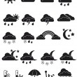Weather icon set — Stock Vector #18422321
