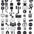 Stock Vector: Business icons set
