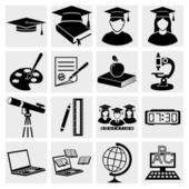 Higher Education icons set — Stock Vector