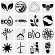 Eco logical Icons set — Stock Vector