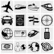Travel and tourism icon set. Simplus series. Vector — Stock Vector