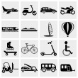 Ttransportation icon set - Vettoriali Stock