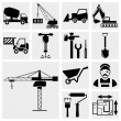 Construction icon set  — Stok Vektör