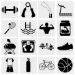 Stock Vector: Fitness icons set