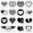 Royalty-Free Stock Vector Image: Vector hearts icon set