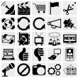 Media and communication icons. — Stock Vector