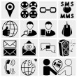 Web,Mobile Social media Vector icons set. - Stock Vector
