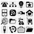 Internet icons set. Web, communication icons vector set. — Stock Vector