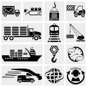 Web icon, internet icon, business icon, supply chain, shipping, shopping and industry icons set. Vector icon. — Stock Vector