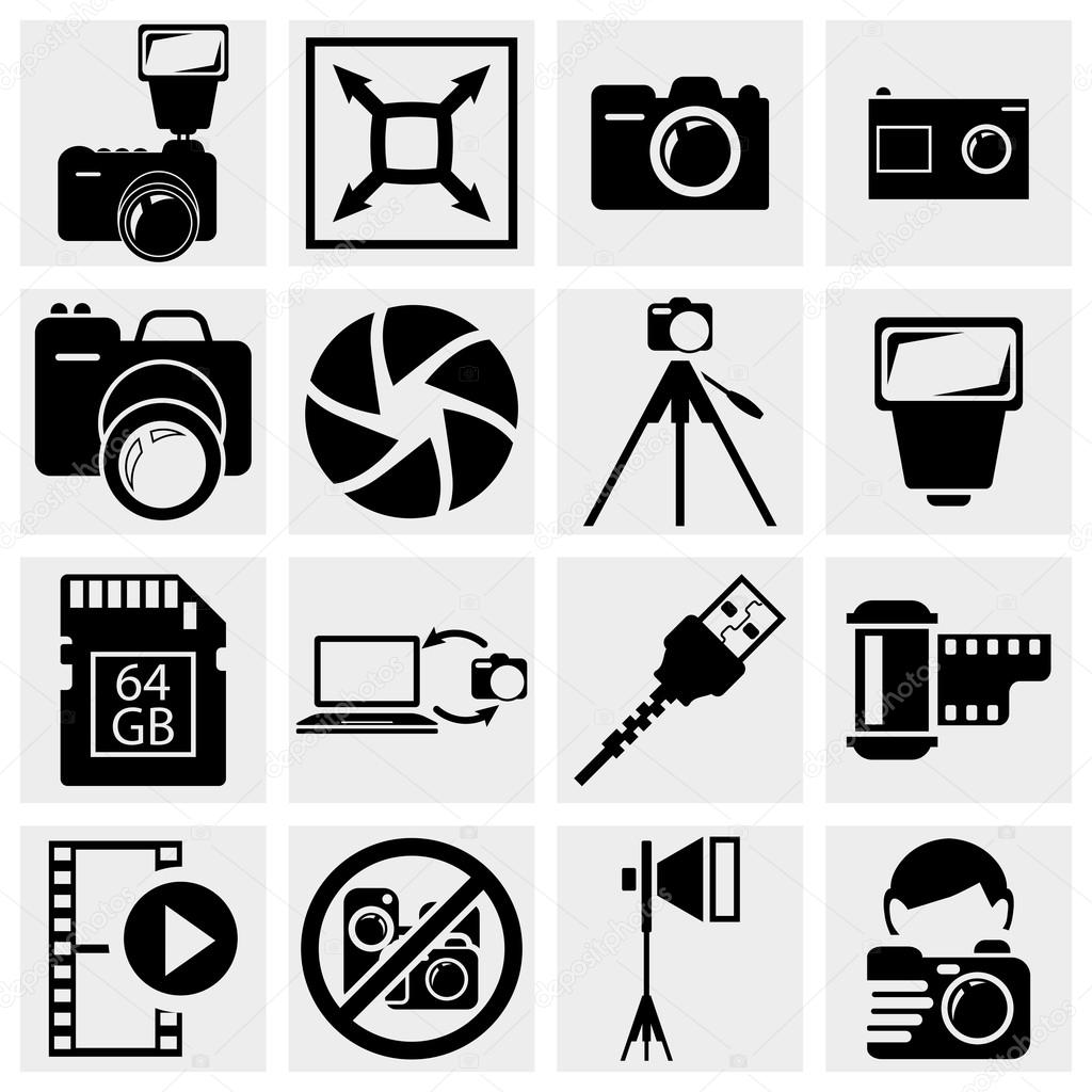 Photography icons — Stock Vector © Alexynder #23134090
