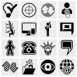 Business, management ,isocial media icons set - Stock Vector