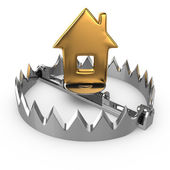 Golden house on bear trap — Stock Photo