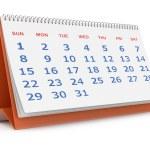 Desktop calendar — Stock Photo