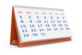 Desktop calendar — Stock Photo