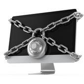 Computer locked — Stock Photo