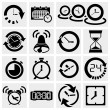 Clock vector icons — Stock Vector