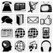 Communication and social media icons — Stock Vector