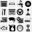 Auto repair vector icons set on gray.  — Stock Vector