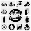 Water vector icons set. — Stock Vector #26268097